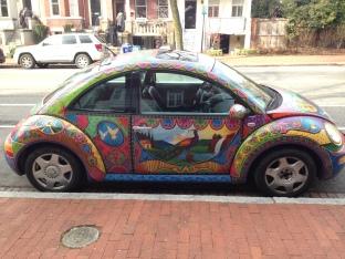 VW Bug in Capital Hill/Eastern Market