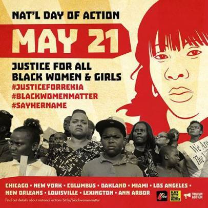 #Sayhername national day of action graphic